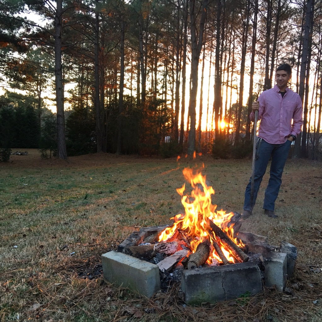 A Carey-style bonfire in North Carolina.